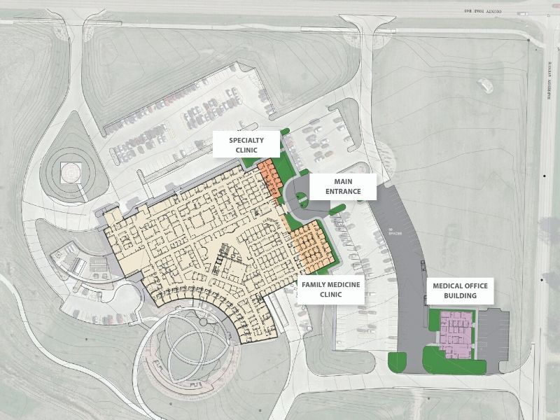 Hospital Main Entrance Project POP OUT | Sioux Center Health | Growing Community Capital Campaign
